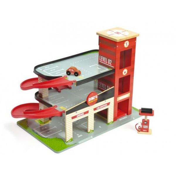 Le Toy Van Garage Dino Rood Veel Speelplezier Voor